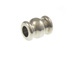 1000 - 6.5x5mm Double Hourglass Bead  Nickel Plated