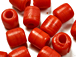 9mm Opaque Red Crow Beads