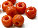 9mm Opaque Orange Crow Beads
