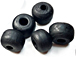 9mm Opaque Black Matt/Frosted Crow  Beads
