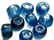 6mm Royal Blue (Translucent) Crow Beads