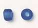 9mm Royal Blue (Translucent) Matt/Frosted Crow  Beads