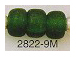 9mm Malachite (Dark Green) (Translucent) Matt/Frosted Crow  Beads
