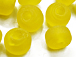 6mm Yellow (Translucent) Matt/Frosted Crow  Beads