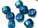 9mm Dark Turquoise (Translucent) Crow Beads
