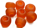 9mm Orange (Translucent) Matt/Frosted Crow  Beads