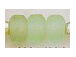 9mm Light Green (Translucent) Matt/Frosted Crow  Beads