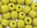 6mm Opaque Yellow Matt/Frosted Crow  Beads