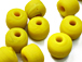 6mm Opaque Yellow Crow Beads