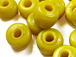 9mm Opaque yellow Matt/Frosted Crow  Beads
