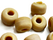 9mm Opaque Cream Matt/Frosted Crow  Beads