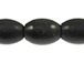 Large Oval Black Horn Bead Strand