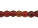 Small Oval Amber Horn Bead Strand