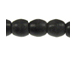 Small Oval Black Horn Bead Strand