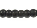 4mm Round Black Horn Bead Strand