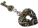 Sterling Silver Marcasite Heart with Key Pendant