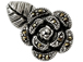 Sterling Silver Marcasite Rose Pendant