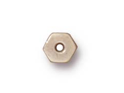 100 - TierraCast Bright Rhodium Plated 4mm Hex Heishi Spacer Bead