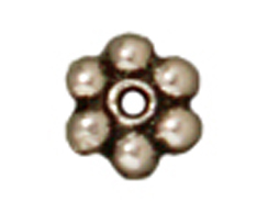 5000 - TierraCast Antique Silver Plated 3mm Beaded Daisy Pewter Heishi Spacer Bead-BULK