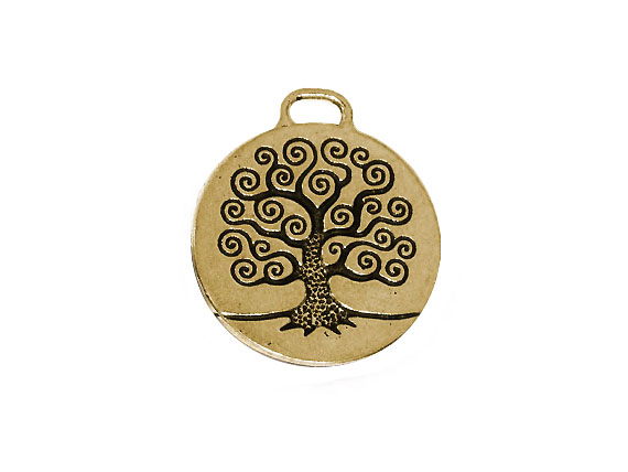 5 - TierraCast Pewter Pendant Tree of Life Oxidized Brass