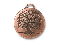 5 - TierraCast Pewter Pendant Tree of Life Antique Copper Plated