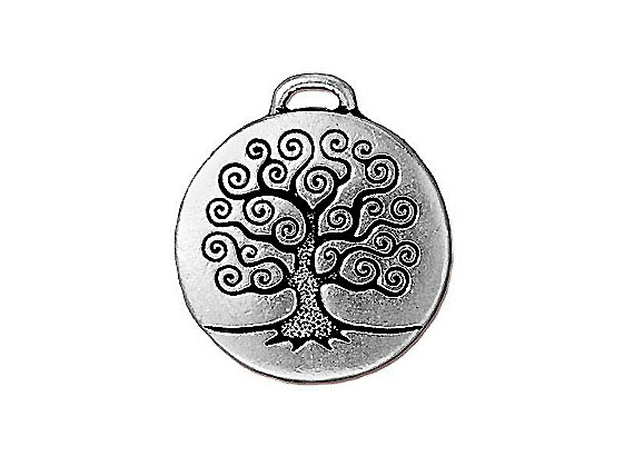 5 - TierraCast Pewter Pendant Tree of Life Antique Silver Plated