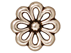20 - TierraCast Pewter LINK Open Daisy, Antique Silver Plated