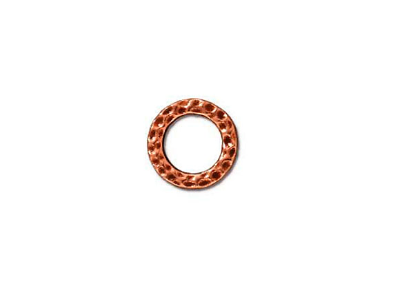 20 - TierraCast Pewter LINK Sm Hammered Ring, Antique Copper Plated