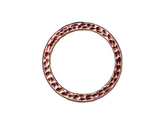 LINK-Large Round Hammered Ring,  25.25 X 1.75mm