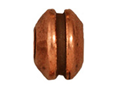 20 - TierraCast Pewter BEAD Grooved Large Hole Spacer, Antique Copper Plated