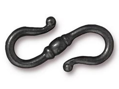 10 - TierraCast Pewter CLASP Classic S Hook Black Finish