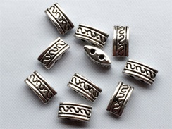 2 Hole Pewter Spacer Bead