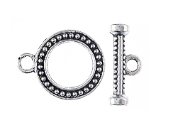 15mm Pewter Toggle Clasp