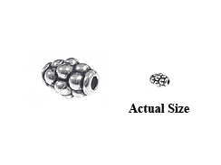 5mm Barrell Pewter Bead