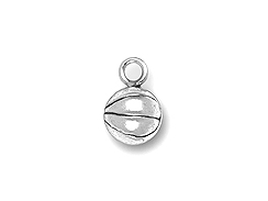 Pewter Basketball Charm