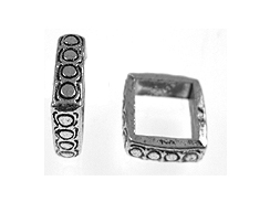 Square Large Hole Pewter Spacer Bead
