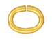 100 - TierraCast JUMP RING 6x5mm Oval Gold Plated