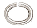 100 - TierraCast JUMP RING 6x5mm Oval Rhodium Plated