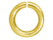 100 - TierraCast JUMP RING 7.5mm Round Gold Plated