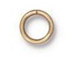 100 - TierraCast JUMP RING 7.4mm 19 Gauge Round Gold Plated