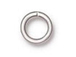 100 - TierraCast JUMP RING 7.4mm 19 Gauge Round Silver Plated