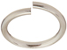 100 - TierraCast JUMP RING 8mm Round Rhodium Plated
