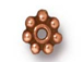 100 - TierraCast Antique Copper Plated 4mm Beaded Daisy Pewter Heishi Spacer Bead