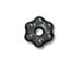 100 - TierraCast Black Finish 3mm Beaded Daisy Pewter Heishi Spacer Bead