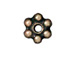 100 - TierraCast Oxidized Brass Finish 3mm Beaded Daisy Pewter Heishi Spacer Bead
