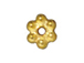 100 - TierraCast Bright Gold Plated 3mm Beaded Daisy Pewter Heishi Spacer Bead