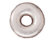 100 - TierraCast Pewter Bead Round Ornamental Heishi, Bright Silver Plated