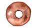 100 - TierraCast Pewter Bead Round Hammered Edge Spacer, Antique Copper Plated
