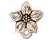 10 - TierraCast Pewter EARRING Star Jasmine Post Earring Component, Antique Silver Plated