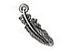 10 - TierraCast Pewter CHARM  Small Feather  Antique Silver Plated